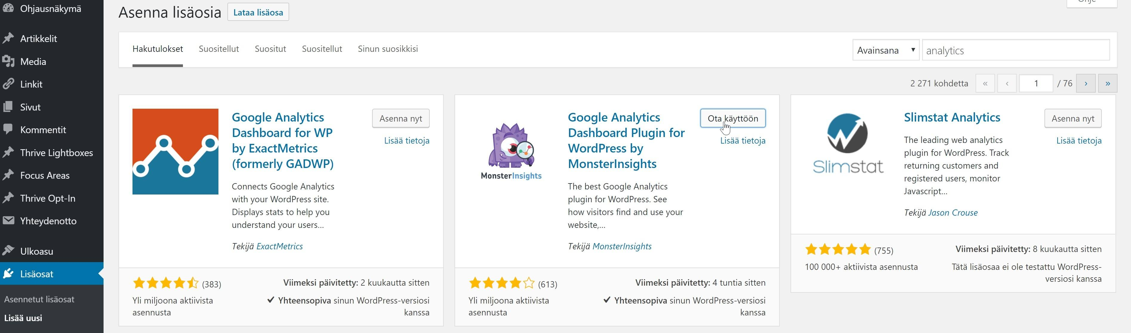 Google Analytics WordPress